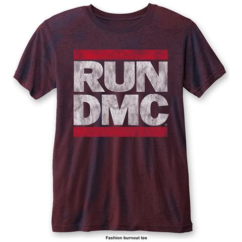 ROCK OFF Run Dmc - Dmc Logo Blue Red (T-Shirt Unisex Tg. XL)