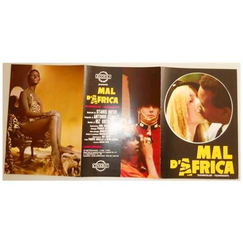 Vendilosubito Brochure Originale Del Film Mal D ' Africa 1967 Raro