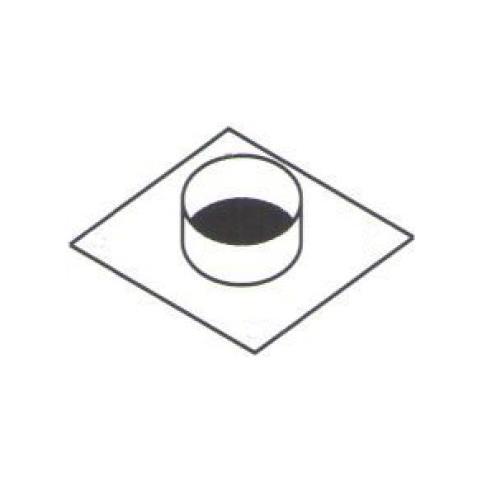 Piastra Diametro Cm 12 35 Collarino Collare Acciaio Uscita Cappa Rs8441