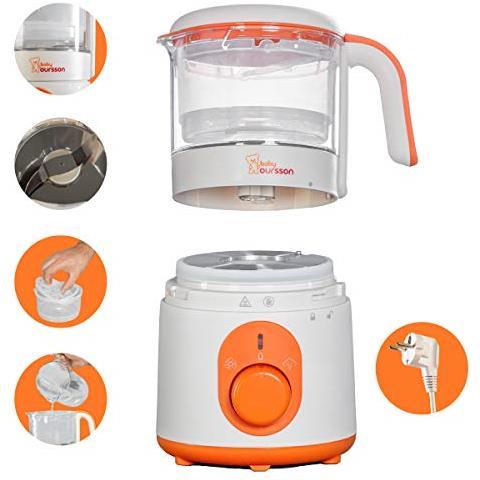 Vapore E Baby Mixer, Funzione Di Riscaldamento, Senza Bpa, 0,5 Litri, 500 Watt, Bl1050ht / or