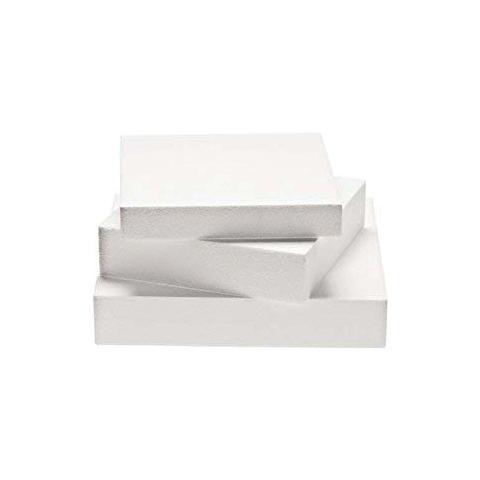Decora Polistorolo per torte quadrato 30 x 30 h. 7,5cm