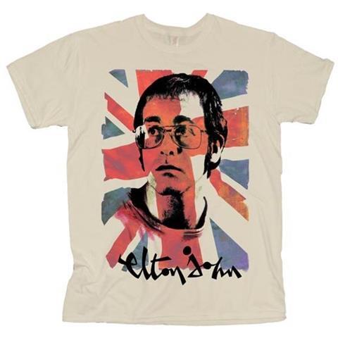 ROCK OFF Elton John - Union Jack (T-Shirt Unisex Tg. S)