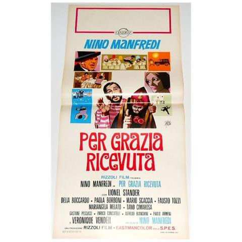 Vendilosubito Locandina Originale Del Film Per Grazia Ricevuta Nino Manfredi 1971 Raro