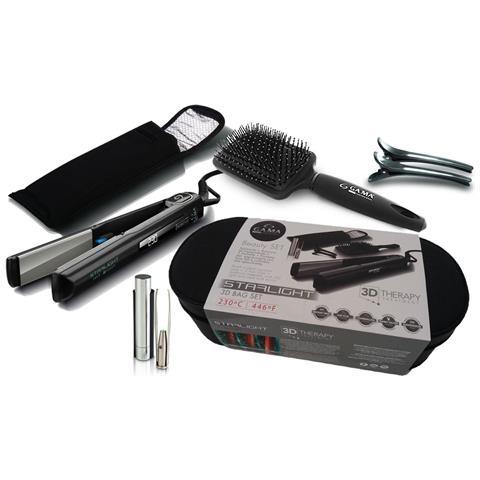 GA.MA Set Piastra 3D Therapy Bag per Capelli a Caldo 45W Colore Nero / Grigio