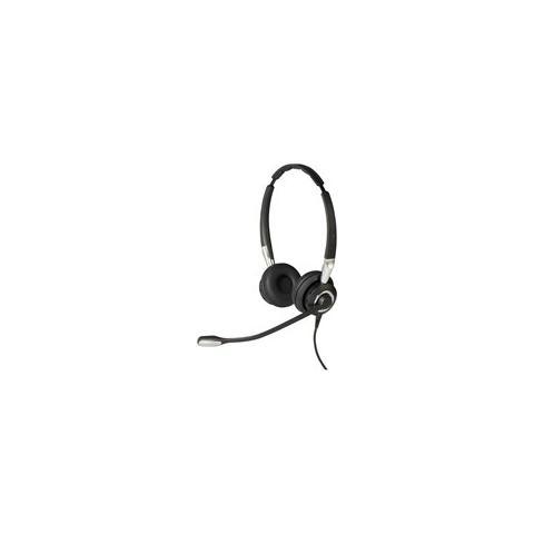 JABRA Biz 2400 II QD Duo NC Wideband Balanced Stereofonico Padiglione auricolare Nero, Argento cuffia e auricolare