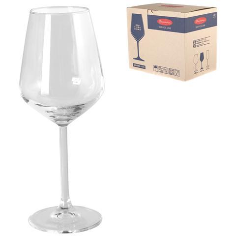 Confezione 6 Calici In Vetro Allegra Cl34.5 Calici Vino Bicchieri Tavola