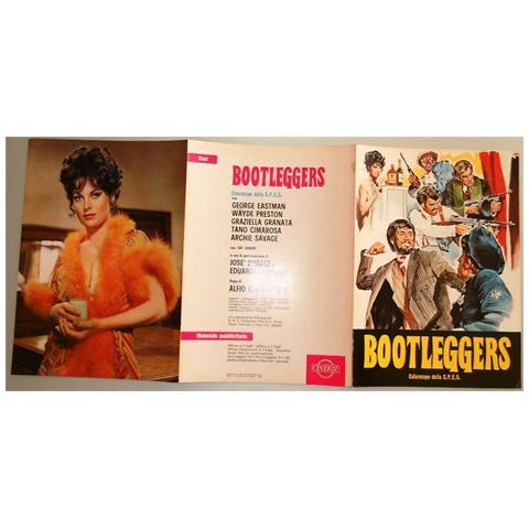 """Vendilosubito Brochure Originale Del Film """" bootleggers"""" 5 Figli Di Cane 1969 Raro In Inglese"""