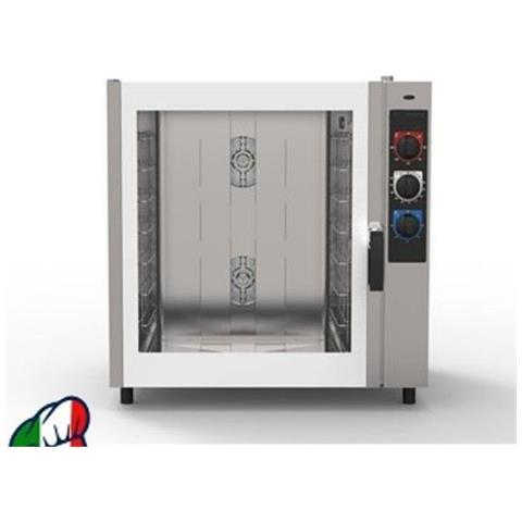 Forno a convezione + vapore diretto a GAS per PASTICCERIA - 8 Teglie 60X40- Comandi elettromeccanici