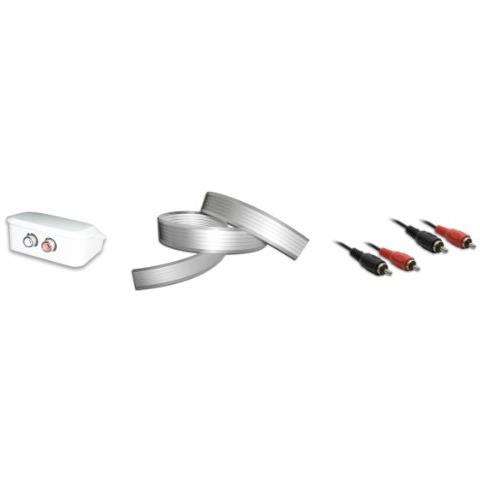 WireSlim 496001 2m 2 x RCA 2 x RCA Nero, Rosso cavo audio