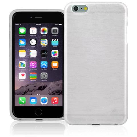 FONEX Perla Cover in Morbido TPU con Effetto Madreperla per iPhone 6 Plus / 6S Plus Colore Bianco