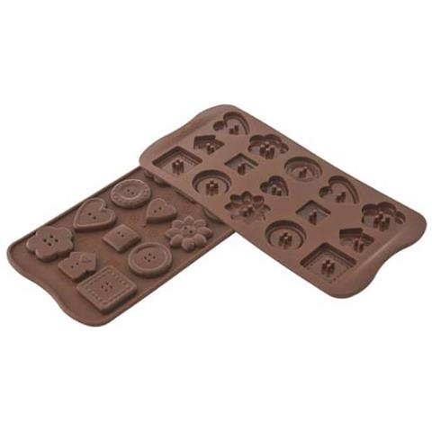 Silikomart Stampo cioccolato buttons easy choc 35x30mm h. 16mm 112.5ml silicone