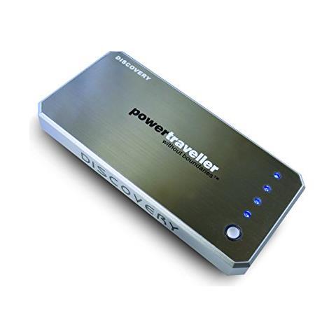 PTL-DISC001 Polimeri di litio (LiPo) 6000mAh Alluminio, Nero batteria portatile