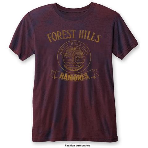 ROCK OFF Ramones - Forest Hills Blue Red (T-Shirt Unisex Tg. M)