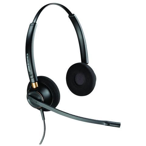 Image of Cuffia Biaurale con Microfono Nero Filo 100 - 6800 Hz 320 Ohm 89436-02