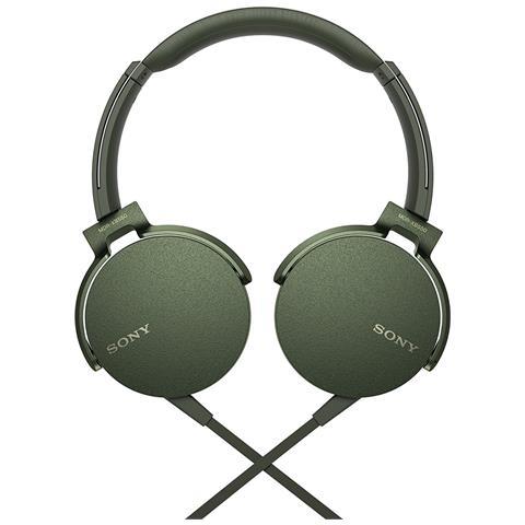 SONY - Cuffie Cablato MDRXB550APG. CE7 Colore Verde 6ccfc0f37758