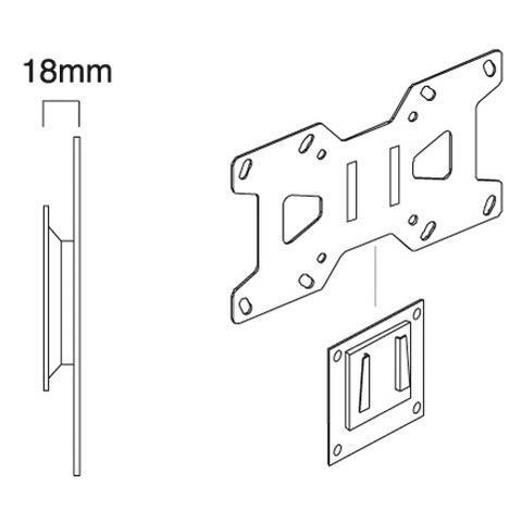 Gisan AX. 103, 75 x 75,200 x 100 mm, Nero, Acciaio