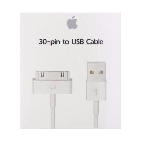 apple 30-pin - Usb2.0 Usb A 30-p White Usb Cable - Usb Cables (usb A, 30-p, Male / male, White, 480 Mbit / s)