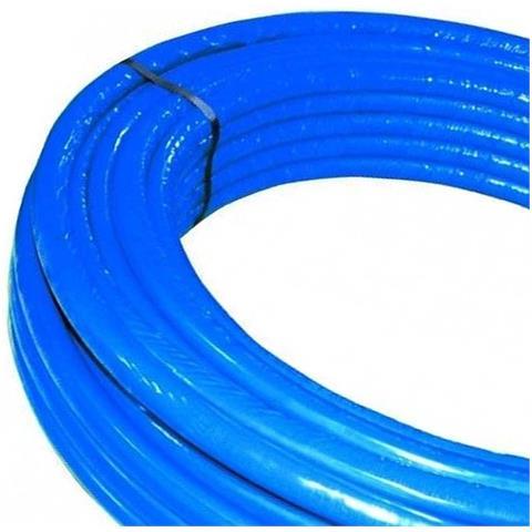 Rotolo Mt. 50 Tubo Multistrato Dm. 16 Rivestito Blu