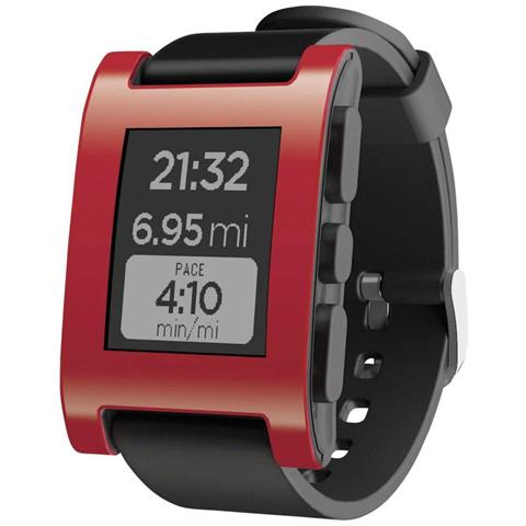 "PEBBLE Classic Impermeabile Rosso Display 1.26"" Fitness / Sonno per iOS e Android - Europa"