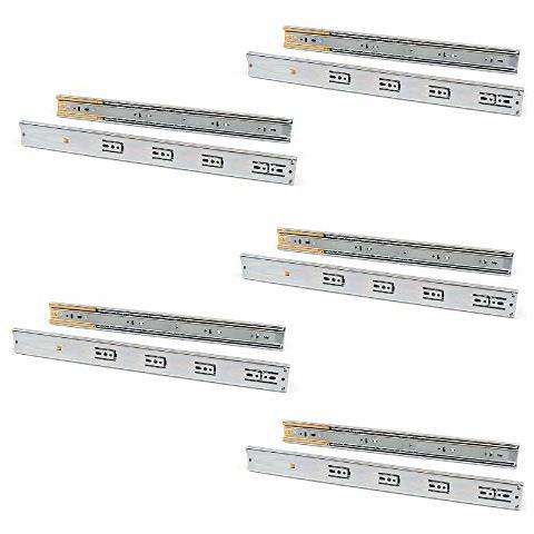 Guide Per Cassetti Con Cuscinetti A Sfera 45mm X 650mm, Set Di 5 Coppie Di Binari Ad Estra...