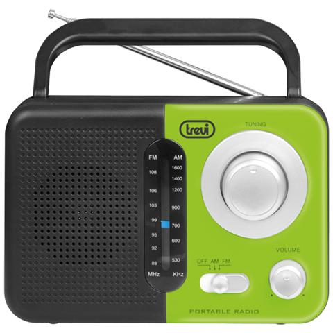 TREVI Radio Portatile Am / fm Ra 768 S Verde