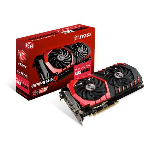 Image of Radeon RX 580 8 GB GDDR5 PCI Express / DL-DVI-D / 2x HDMI / 2x DisplayPort Gaming X