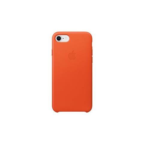 APPLE Cover in Pelle colore Arancione Brillante per iPhone