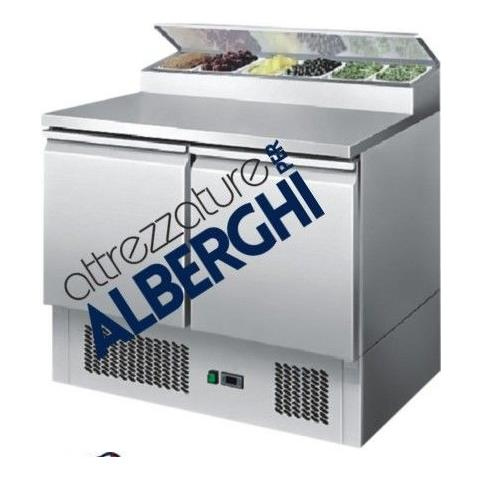 Saladette Tavolo Refrigerato Statica 2 porte Cm. 90x70x97H.