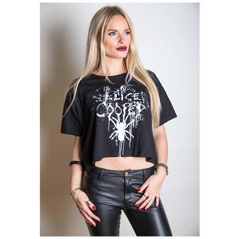 ROCK OFF Alice Cooper - Spider Splatter (T-Shirt Donna Tg. XL)