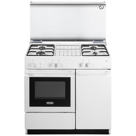 Cucina freestanding 86x50 4 portab. Bianca, accensione elettronica a pulsante