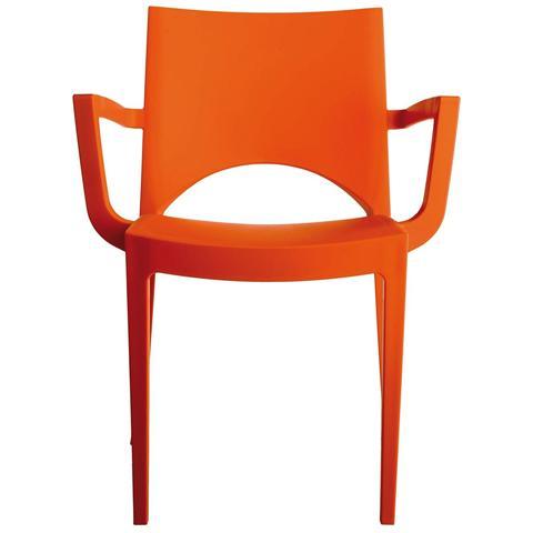 Poltrona Da Giardino Piscina Economica Colorata Arancio E Impilabile