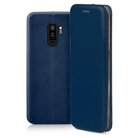 FONEX Profile Book Custodia a Libro per Samsung Galaxy S9 + Colore Blu