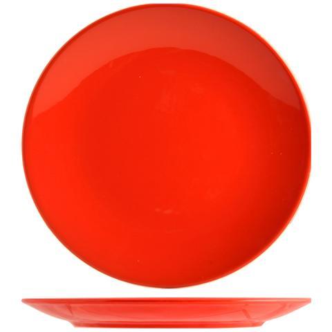 H&H Set 6 Piatto Coupe Iris Rosso Piano Cm26 Tableware