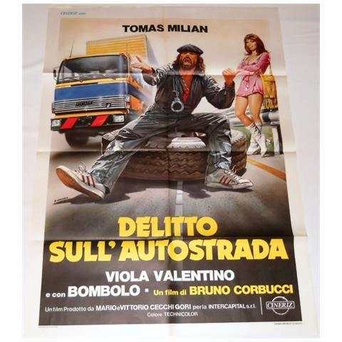 Vendilosubito Manifesto 2f Originale Del Film Delitto Sull' Autostrada Con Tomas Milian 1982