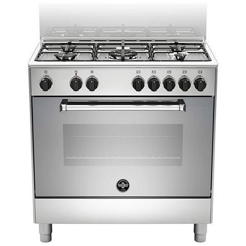 Cucina Elettrica AMN855EXV 5 Fuochi a Gas Forno Elettrico Classe A Dimensioni 80 x 50 cm C...