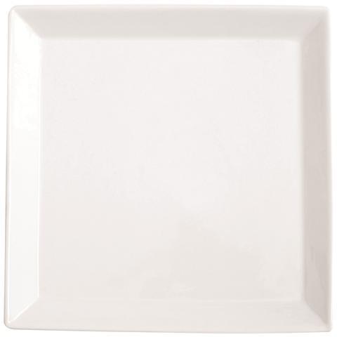 EXCELSA Piatto da Portata Bianca in Porcellana Quadro Square 36,0 x 36,0 cm