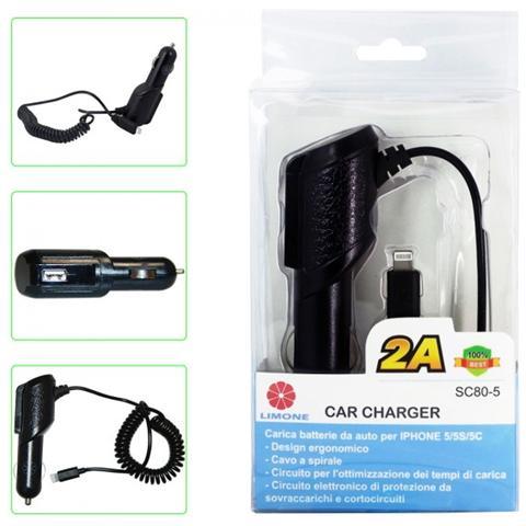 Limone Caricabatteria Da Auto Per Iphone 5/5s / 5c