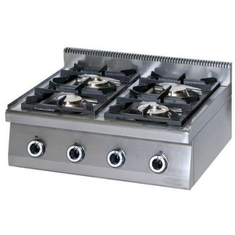 Cucina 4 Fuochi a gas top - Dim. cm. 80x70x27h