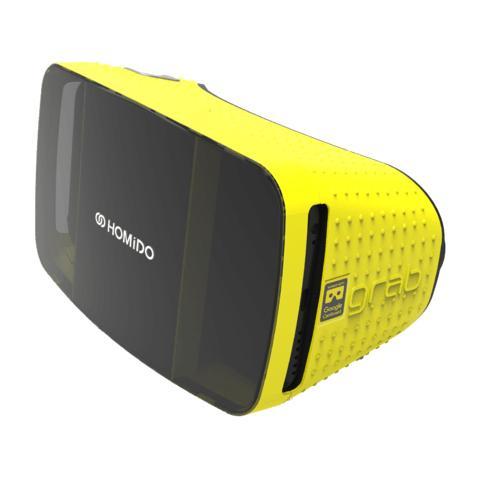 """HOMIDO VR Grab per Smartphone da 4.7"""" - 5.7"""" Android / iOS - Nero / Giallo"""