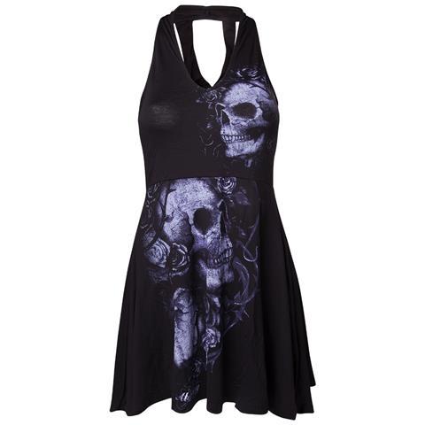 BIOWORLD Alchemy - Hasselt Dead Flowers Black (Vestito Donna Tg. L)