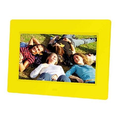 Cornice Digitale 21222 Display 7'' Formato 4:3 Lettore MMC / SD / SDHC Colore Giallo