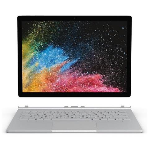 Surface Book 2 Display 13.5 4K Intel Core i7 Ram 8GB Memoria 256GB Wi-Fi Fotocamera 8Mpx Windows con Tastiera inclusa - Italia