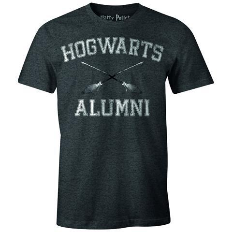TimeCity Harry Potter - Hogwarts Alumni Anthracite Melange (T-Shirt Unisex Tg. XL)