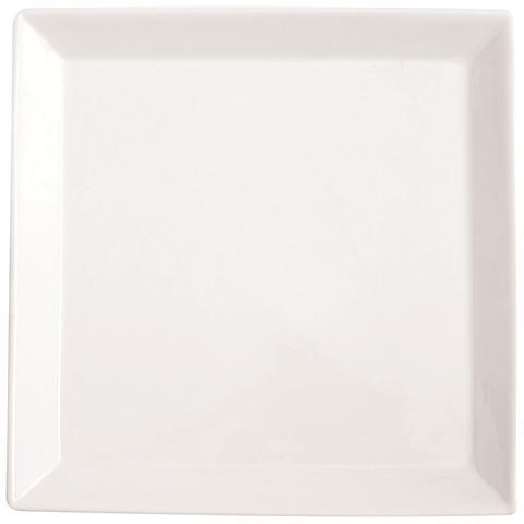 Piatto da Portata Bianca in Porcellana Quadro Square 30,0 x 30,0 cm