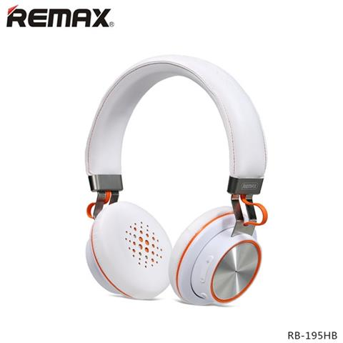 Remax Cuffie Bluetooth Stereo Headset Rb-195hb Bianco Iphone Samsung Android
