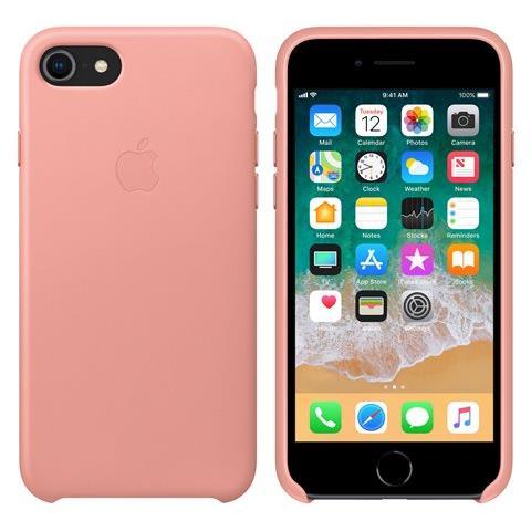 APPLE Cover in Pelle colore Rosa Tenue per iPhone 7