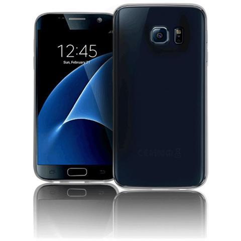 FONEX Inv Cover Ultra Sottile 0,2 mm in Morbido TPU per Galaxy S7 Colore Nero Trasparente