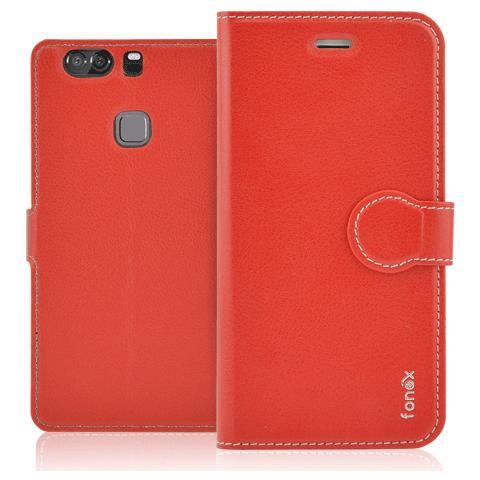 FONEX Identity Book Custodia a Libro per Huawei P9 Plus Colore Rosso
