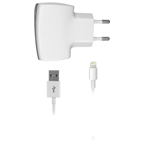CELLULAR LINE Caricabatteria e Cavo USB / Lightning per iPhone 5/5S - Bianco