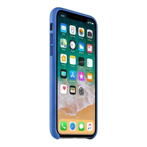 APPLE Cover in Pelle colore Blu Elettrico
